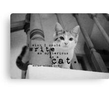 Edgar Allan Poe Cat Canvas Print