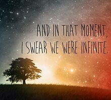 In that moment, I swear we were infinite by Gabybarakat