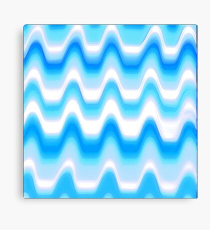 CandyCane Blue Canvas Print