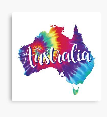Australia Tie Dye Australia Canvas Print