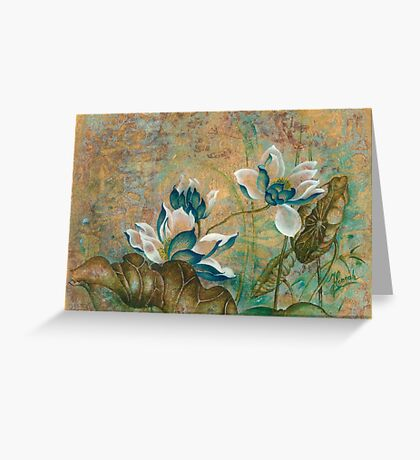 """The Turquoise Incarnation"" from the series ""In the Lotus Land"" Greeting Card"