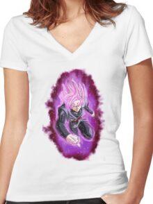 Goku Black (Dragon Ball Super) Women's Fitted V-Neck T-Shirt