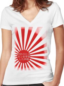 regrets Women's Fitted V-Neck T-Shirt