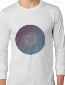 Geometric shape. Colorful polygonal modern background. Triangle and circles. Boho and hipster style Long Sleeve T-Shirt