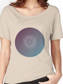 Geometric shape. Colorful polygonal modern background. Triangle and circles. Boho and hipster style Women's Relaxed Fit T-Shirt