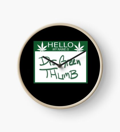 Dr. Green Thumb Clock