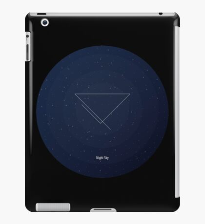 Blue night sky. Figure: triangle with incomplete lines. Modern design with mathematical and geometrical features. Space navy blue background iPad Case/Skin