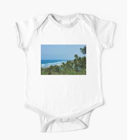 Torrey Pines - the Beach and the Lagoon Through the Trees One Piece - Short Sleeve
