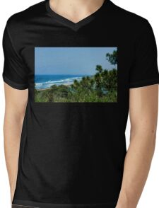 Torrey Pines - the Beach and the Lagoon Through the Trees Mens V-Neck T-Shirt