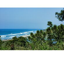 Torrey Pines - the Beach and the Lagoon Through the Trees Photographic Print