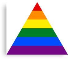 LGBT triangle flag Canvas Print