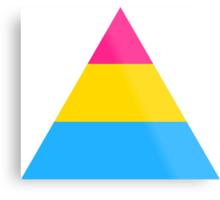 Pansexual triangle flag Metal Print