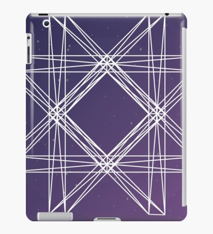 Octagon with triangles. Modern design with mathematical and geometrical features. Space purple background iPad Case/Skin