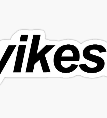 yikes! dramatic expression Sticker