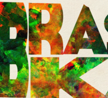 Nebraska Typographic Watercolor Map Sticker