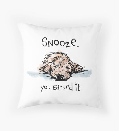 Snooze Pooch Throw Pillow