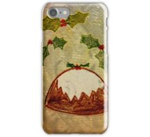 Xmas Pudding and Holly iPhone Case/Skin
