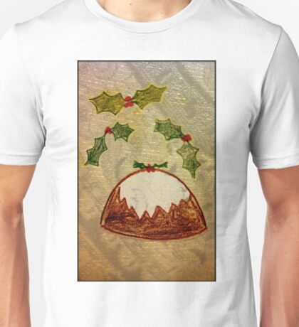 Xmas Pudding and Holly Unisex T-Shirt