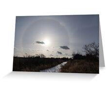 Sun Halo - a Beautiful Optical Phenomenon in the Winter Sky Greeting Card