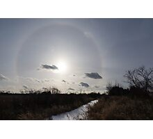 Sun Halo - a Beautiful Optical Phenomenon in the Winter Sky Photographic Print