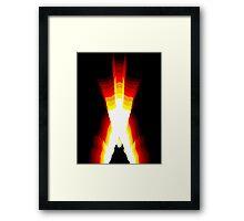 wolverine fire Framed Print