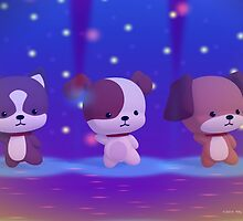 Dancing Puppies by 55INCH