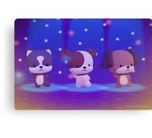 Dancing Puppies Canvas Print