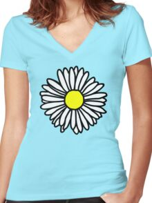 Daisy and Daisies Women's Fitted V-Neck T-Shirt