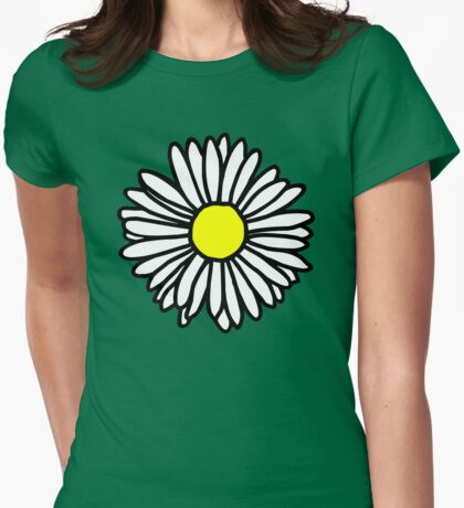 Daisy and Daisies Womens Fitted T-Shirt