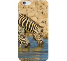 Zebras drinking Tandem iPhone Case/Skin