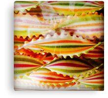 Stripey pasta Canvas Print