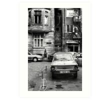 Quiet Streetscape In Sofia From Last Century Art Print