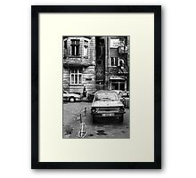 Quiet Streetscape In Sofia From Last Century Framed Print