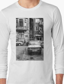 Quiet Streetscape In Sofia From Last Century Long Sleeve T-Shirt