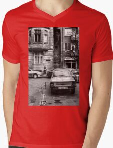 Quiet Streetscape In Sofia From Last Century Mens V-Neck T-Shirt
