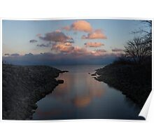 Pink and Blue Serenity - a Lakefront Stillness  Poster