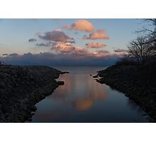 Pink and Blue Serenity - a Lakefront Stillness  Photographic Print