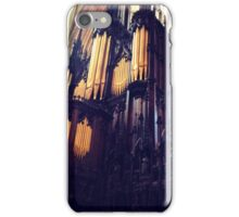 Organ pipes, Lincoln Cathedral iPhone Case/Skin