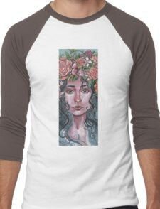 Flower Crown Men's Baseball ¾ T-Shirt
