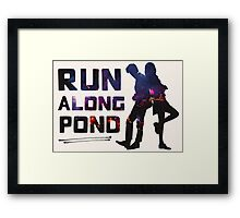 Run Along Pond Framed Print