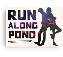Run Along Pond Metal Print
