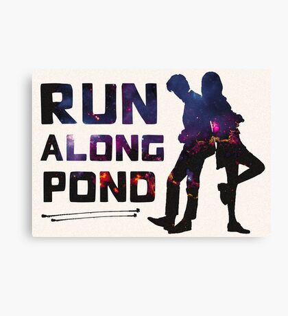 Run Along Pond Canvas Print