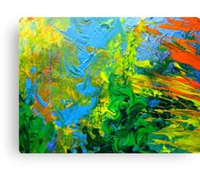 Idea modern abstract painting Yellow Green Blue Canvas Print