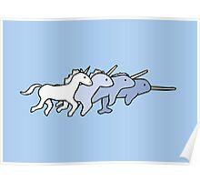 Unicorn Narwhal Evolution Poster