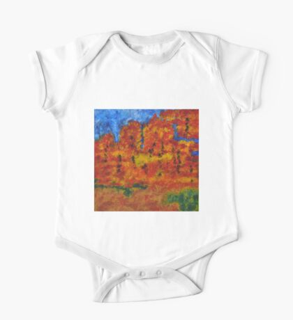 032 Abstract Landscape One Piece - Short Sleeve