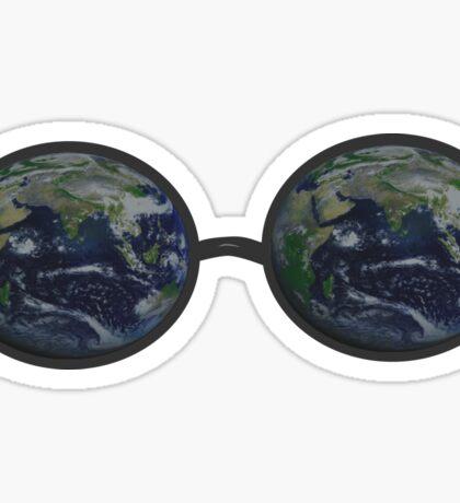 Earth Glasses Sticker