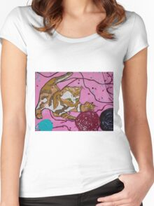 Playing kitten Women's Fitted Scoop T-Shirt