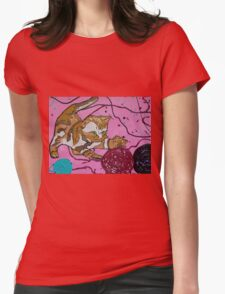 Playing kitten Womens Fitted T-Shirt