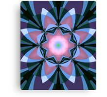 Pink heart flower Canvas Print
