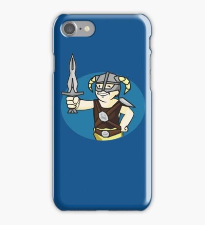 Dovahkiin Vault boy mash-up Skyrim/Fallout Parody iPhone Case/Skin